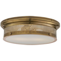 E. F. Chapman Alderly 2 Light 16 inch Antique Burnished Brass Flush Mount Ceiling Light in Antique-Burnished Brass