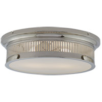 E. F. Chapman Alderly 2 Light 16 inch Polished Nickel Flush Mount Ceiling Light, E.F. Chapman, White Glass
