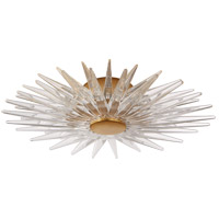 E. F. Chapman Quincy LED 20 inch Antique-Burnished Brass Flush Mount Ceiling Light in Antique Burnished Brass