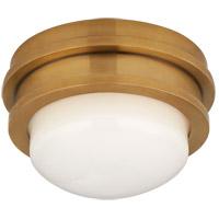 Visual Comfort CHC4600AB-WG E. F. Chapman Launceton LED 5 inch Antique-Burnished Brass Flush Mount Ceiling Light, Petite
