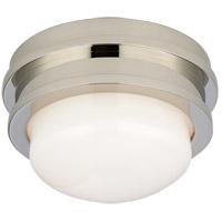 Visual Comfort CHC4600PN-WG E. F. Chapman Launceton LED 5 inch Polished Nickel Flush Mount Ceiling Light, Petite