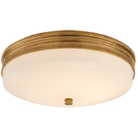 Visual Comfort CHC4601AB-WG Chapman & Myers Launceton LED 13 inch Antique-Burnished Brass Flush Mount Ceiling Light, Small