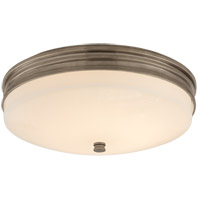 Visual Comfort CHC4601AN-WG Chapman & Myers Launceton LED 13 inch Antique Nickel Flush Mount Ceiling Light, Small