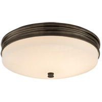 Visual Comfort CHC4601BZ-WG Chapman & Myers Launceton LED 13 inch Bronze Flush Mount Ceiling Light, Small
