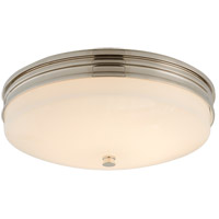 Visual Comfort CHC4601PN-WG Chapman & Myers Launceton LED 13 inch Polished Nickel Flush Mount Ceiling Light, Small