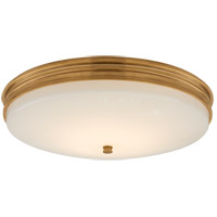 Visual Comfort CHC4603AB-WG Chapman & Myers Launceton LED 17 inch Antique-Burnished Brass Flush Mount Ceiling Light, Medium