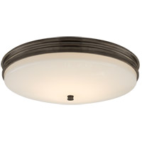 Visual Comfort CHC4603BZ-WG Chapman & Myers Launceton LED 17 inch Bronze Flush Mount Ceiling Light, Medium