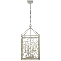 E.F. Chapman Modern 6 Light 18 inch Burnished Silver Leaf Foyer Lantern Ceiling Light, E.F. Chapman, Medium, Iceray