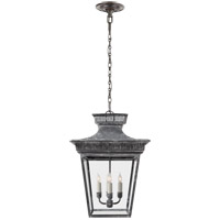 Visual Comfort E.F. Chapman Elsinore 4 Light Ceiling Lantern in Weathered Zinc CHC5050WZ