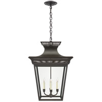 Visual Comfort CHC5051BLK-CG E. F. Chapman Elsinore 4 Light 18 inch Black Hanging Lantern Ceiling Light in Matte Black, Large