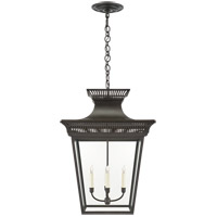 Visual Comfort CHC5052BLK-CG E. F. Chapman Elsinore 4 Light 22 inch Black Hanging Lantern Ceiling Light in Matte Black, Extra Large