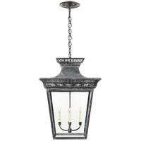 E. F. Chapman Elsinore 4 Light 22 inch Weathered Zinc Hanging Lantern Ceiling Light, Extra Large