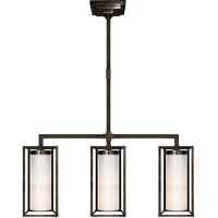 Visual Comfort E.F. Chapman Easterly 3 Light Linear Pendant in Bronze with Wax CHC5057BZ-WG