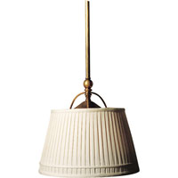 E. F. Chapman Sloane 2 Light 16 inch Antique-Burnished Brass Hanging Shade Ceiling Light in Antique Burnished Brass, Linen