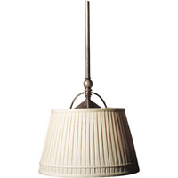 Visual Comfort CHC5101AN-L E. F. Chapman Sloane 2 Light 16 inch Antique Nickel Hanging Shade Ceiling Light in Linen