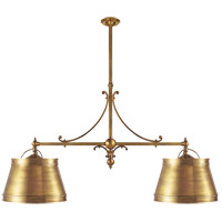 Visual Comfort CHC5102AB-AB E. F. Chapman Sloane 4 Light 54 inch Antique-Burnished Brass Linear Pendant Ceiling Light in Antique Burnished Brass, Antique Brass
