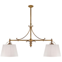 E. F. Chapman Sloane 4 Light 54 inch Antique-Burnished Brass Linear Pendant Ceiling Light in Linen