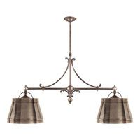E. F. Chapman Sloane 4 Light 54 inch Antique Nickel Linear Pendant Ceiling Light