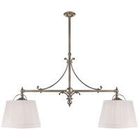 Visual Comfort CHC5102AN-L E. F. Chapman Sloane 4 Light 54 inch Antique Nickel Linear Pendant Ceiling Light in Linen