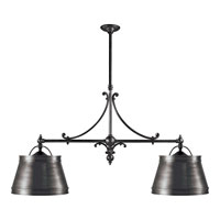 Visual Comfort CHC5102BZ-BZ E. F. Chapman Sloane 4 Light 54 inch Bronze Linear Pendant Ceiling Light