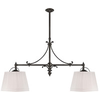 E. F. Chapman Sloane 4 Light 54 inch Bronze Linear Pendant Ceiling Light in Linen