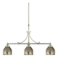 Visual Comfort E.F. Chapman Sloane 3 Light Linear Pendant in Antique Nickel CHC5105AN-AN