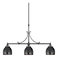 Visual Comfort E.F. Chapman Sloane 3 Light Linear Pendant in Bronze with Wax CHC5105BZ-BZ