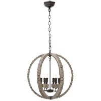 Visual Comfort E.F. Chapman Crystal 6 Light Pendant in Belgian White  CHC5130BW