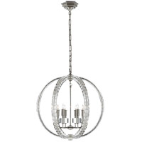 E.F. Chapman Crystal 6 Light 19 inch Polished Nickel Pendant Ceiling Light