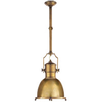 Visual Comfort CHC5133AB-AB E. F. Chapman Country Industrial 1 Light 14 inch Antique-Burnished Brass Pendant Ceiling Light in Antique Brass