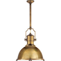 Visual Comfort E.F. Chapman Country 1 Light Pendant in Antique-Burnished Brass CHC5136AB-AB