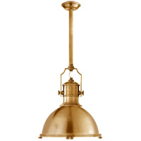 Visual Comfort CHC5136AB-AB E. F. Chapman Country Industrial 1 Light 20 inch Antique-Burnished Brass Pendant Ceiling Light in Antique Burnished Brass, Antique Brass