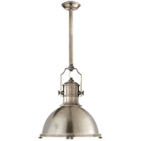 E. F. Chapman Country Industrial 1 Light 20 inch Antique Nickel Pendant Ceiling Light