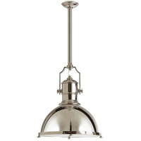 E. F. Chapman Country Industrial 1 Light 20 inch Polished Nickel Pendant Ceiling Light