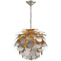 Visual Comfort CHC5157BSL E. F. Chapman Cynara 1 Light 29 inch Burnished Silver Leaf Chandelier Ceiling Light, Large