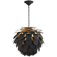 Visual Comfort CHC5157MBK/G E. F. Chapman Cynara 1 Light 29 inch Matte Black Chandelier Ceiling Light, Large