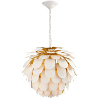 Visual Comfort CHC5157WHT/G E. F. Chapman Cynara 1 Light 29 inch Plaster White Chandelier Ceiling Light, Large