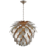 Visual Comfort CHC5158BSL E. F. Chapman Cynara 6 Light 37 inch Burnished Silver Leaf Chandelier Ceiling Light, Grande