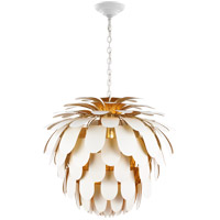 Visual Comfort CHC5158WHT/G E. F. Chapman Cynara 6 Light 37 inch White with Gild Chandelier Ceiling Light Grande