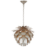 Visual Comfort CHC5163BSL E. F. Chapman Cynara 1 Light 17 inch Burnished Silver Leaf Chandelier Ceiling Light, Small