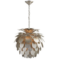 Visual Comfort CHC5165BSL E. F. Chapman Cynara 1 Light 23 inch Burnished Silver Leaf Chandelier Ceiling Light, Medium
