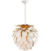 Visual Comfort CHC5165WHT/G E. F. Chapman Cynara 1 Light 23 inch Plaster White Chandelier Ceiling Light, Medium