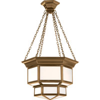 Visual Comfort E.F. Chapman Cornice 2 Light Ceiling Lantern in Antique-Burnished Brass CHC5170AB