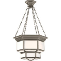 Visual Comfort E.F. Chapman Cornice 2 Light Ceiling Lantern in Antique Nickel CHC5170AN