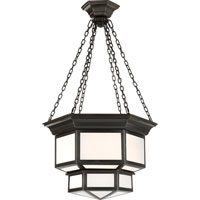 Visual Comfort E.F. Chapman Cornice 2 Light Ceiling Lantern in Bronze with Wax CHC5170BZ