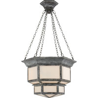Visual Comfort E.F. Chapman Cornice 2 Light Ceiling Lantern in Weathered Zinc CHC5170WZ
