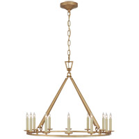 Visual Comfort CHC5172AB Chapman & Myers Darlana 12 Light 30 inch Antique-Burnished Brass Single Ring Chandelier Ceiling Light Medium