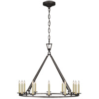 Visual Comfort CHC5172AI Chapman & Myers Darlana 12 Light 30 inch Aged Iron Single Ring Chandelier Ceiling Light Medium