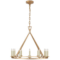 Visual Comfort CHC5172GI Chapman & Myers Darlana 12 Light 30 inch Gilded Iron Single Ring Chandelier Ceiling Light Medium