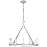 Visual Comfort CHC5172PN Chapman & Myers Darlana 12 Light 30 inch Polished Nickel Single Ring Chandelier Ceiling Light Medium
